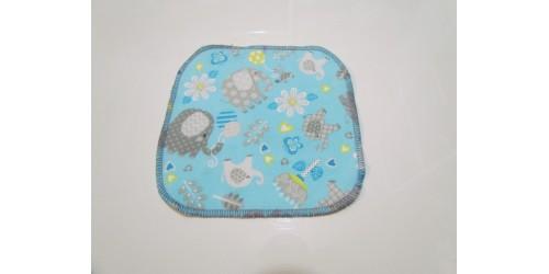 Lingette Bébé Nana- Petit 6x6- Éléphant gris