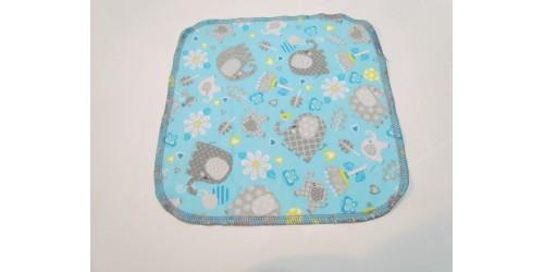 Lingette Bébé Nana- Moyen 9x9- Éléphant gris