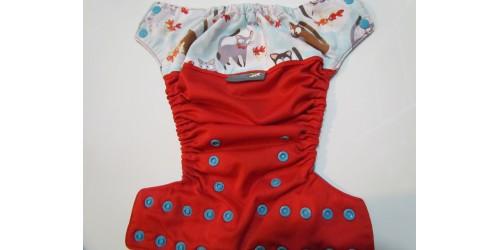 Couche EBB-Chat- Wrap de coton- légère usure au niveau du wrap au dos