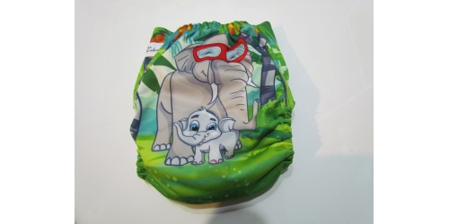 Couche Alva- Éléphant aux p'tit cadeaux