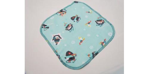 Lingette Bébé Nana- Moyen 9x9- Pingouin