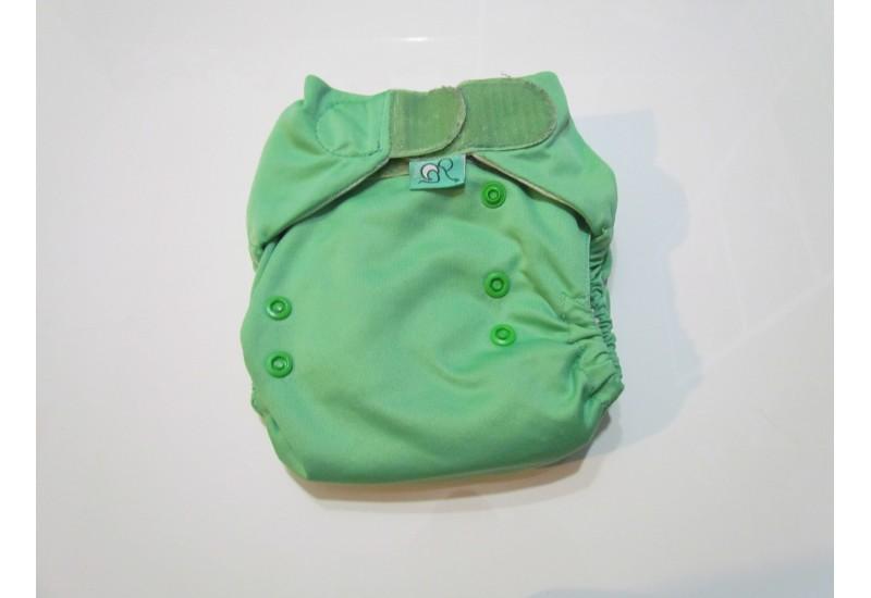 Couche Totsbots easy fit- Vert- velcro- version 3- Comme neuve