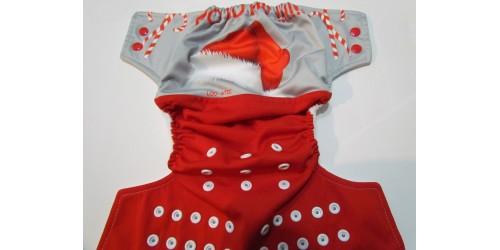 Couche loostic- Chapeau père Noël- Wrap en Performance Knit