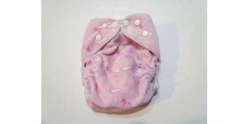 Couche  à poche- Cheval rose- extérieur en minky