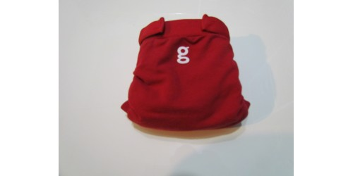 Couche G Diaper- Small 8-14 Lbs- Rouge- Velcro