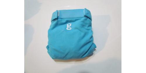 Couche G Diaper- Small 8-14 Lbs- Bleu azur- Velcro