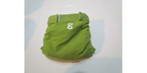 Couche G Diaper- Small 8-14 Lbs- Vert- Velcro