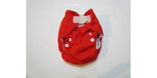 Couche Alva nouveau-né- Rouge-velcro
