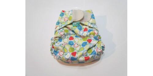 Couche Totsbots easy fit- Pomme poire-velcro- version 2
