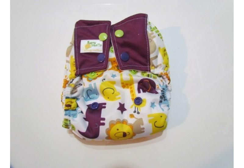 Couche nouveau-né à poche- Animaux- 5-15 livres