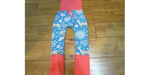 Pantalon évo bébé Nana- Chevreuil-coeur 6-36 mois