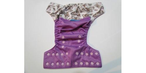 Couche EBB- Papillon- Wrap de coton légère usure au niveau de l'élastique du dos