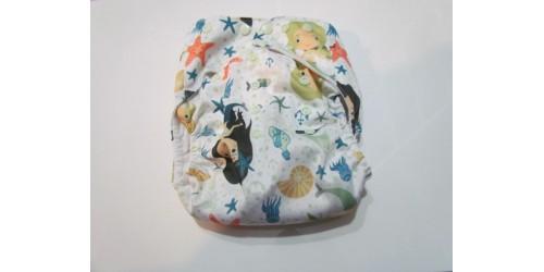 Couche à poche LARGE MiniHip- Sirène
