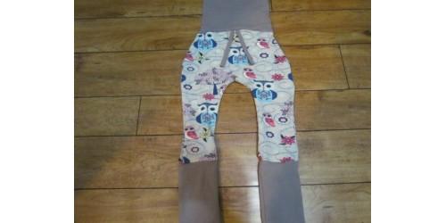 Pantalon évo bébé Nana- Hibou bleu rose beige 6-36 mois