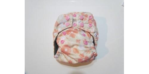 Couche nouveau-né Bamboodrive- Intérieur charcoal- Fleur