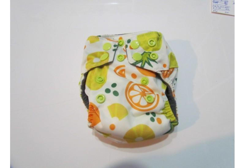 Couche nouveau-né Bamboodrive- Intérieur charcoal- Fruit