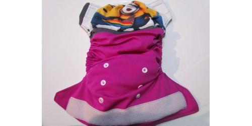 Couche large à poche- Minion- Velcro