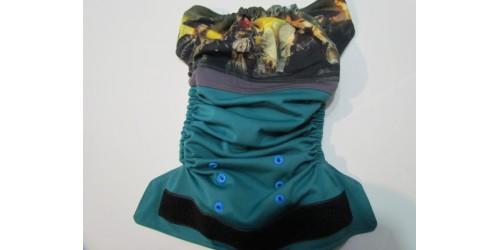 Couche large à poche- Pirate des Caraibe- Velcro