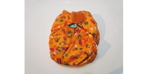 Couche Totsbots easy fit- jardin orange- velcro- version 3