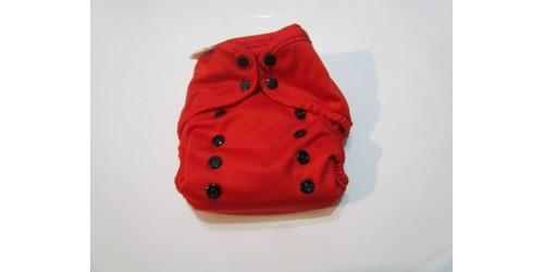 Couche Tout-en-un Pure- Rouge- utilisé quelques fois