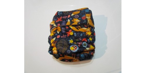 Elf diaper- Couche à poche- Renard roux-Velcro