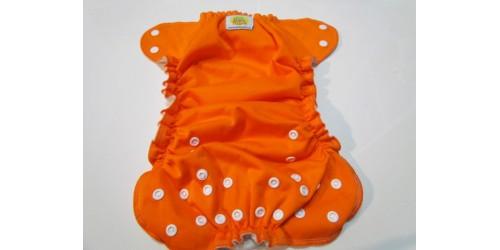 Couche AMP One size - Orange- tâche sur le devant