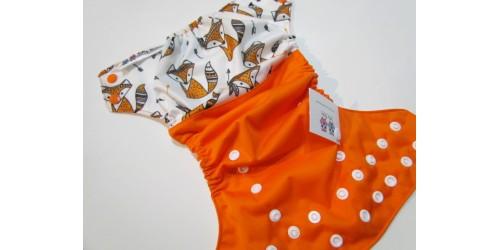Couche à poche Joka Bébé- Renard et flêche orange