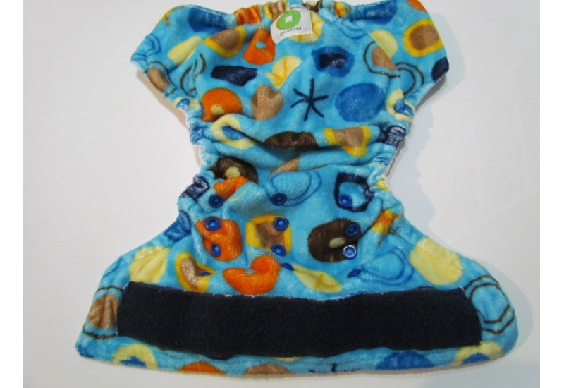 Couche Mini Kiwi à poche - Cercle extérieur en Minky-velcro