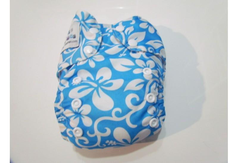 Couche Double Maman- Fleur bleu