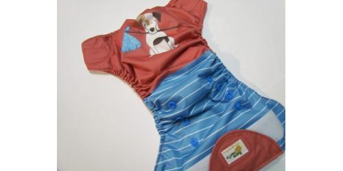 Couche à poche Agrumette- Dog- Velcro anti-frottement