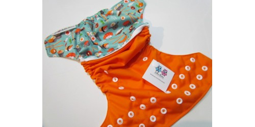 Couche à poche Joka Bébé Édition spéciale -Sushis orange