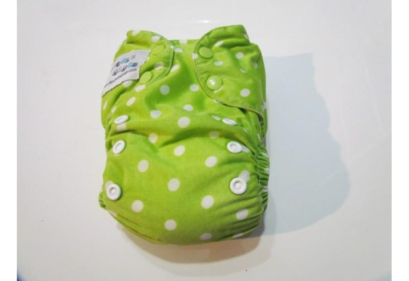 Couche Double Maman- Picot vert