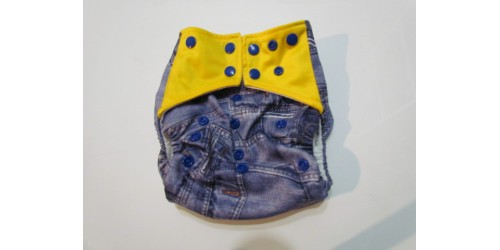 Couche  à poche one size- Jeans