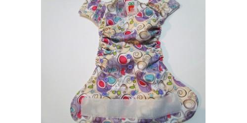 Elf diaper- Couche à poche- Spirale-Velcro