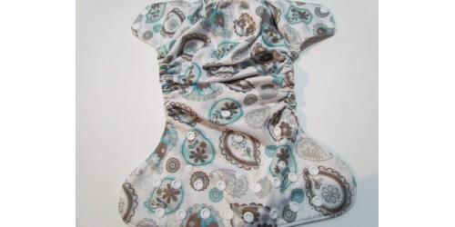 Blueberry-Fleur gris turquoise-snap- Intérieur un peu gris