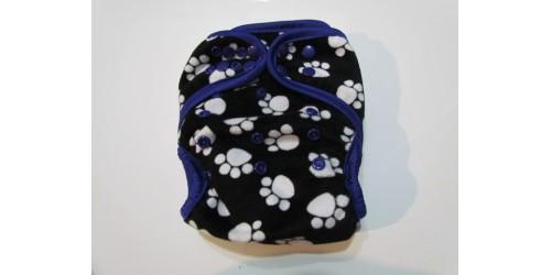 Couche  à poche- Patte mauve- Extérieur en minky doux