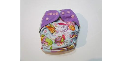 Couche  à poche one size- Papillon multicolor