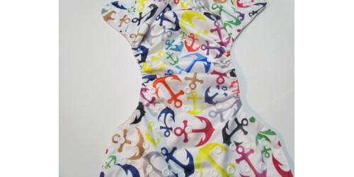 Couche  à poche- Ancre multicolor