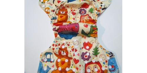 Couche  à poche- Ours et coeur