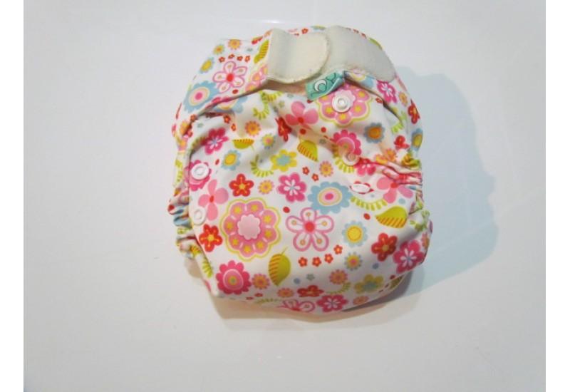 Couche Totsbots easy fit- Fleur-velcro- version 2
