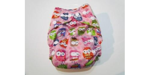 Couche  à poche shine baby- one size- Hibou rose