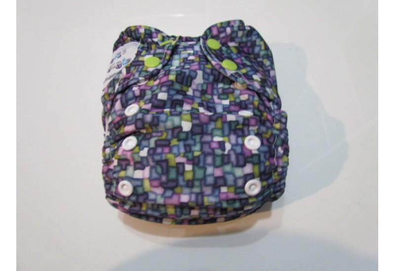 Couche Double Maman- Petits carreaux multicolor- Mini tâche