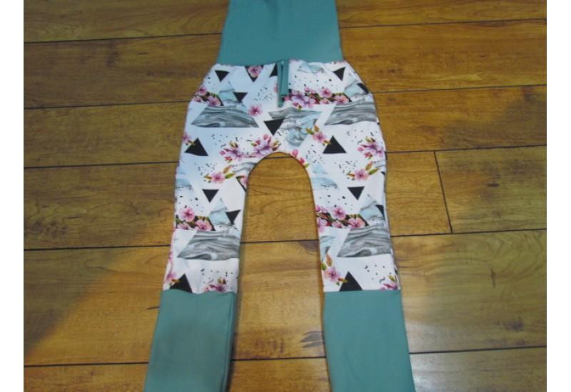 Pantalon évo bébé Nana- Triangle et fleur- 6-36 mois