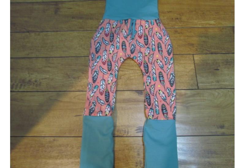 Pantalon évo bébé Nana- Plume rose- 6-36 mois