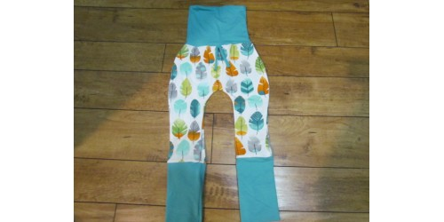 Pantalon évo bébé Nana- Plume verte- 6-36 mois