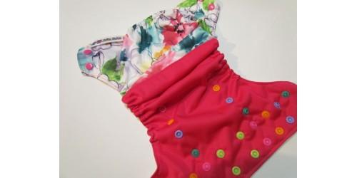 Couche à poche Joka Bébé- Aquarelle florale