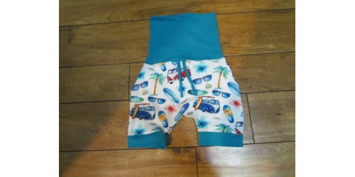 Short évo bébé Nana- Westfalia bande turquoise- 6-36 mois