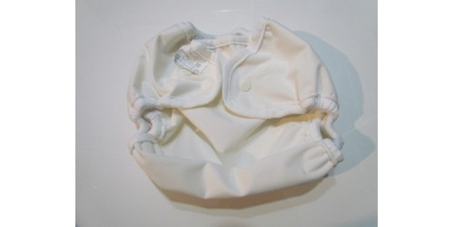 Couvre-couche Bummis Large 30-40 lbs- Blanc snap