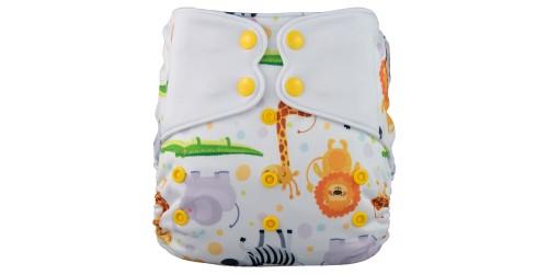 Elf diaper- Couche à poche-Ensemble de luxe- Safari-snap
