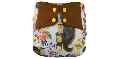 Elf diaper- Couche à poche-Ensemble de luxe- Squirrel-snap